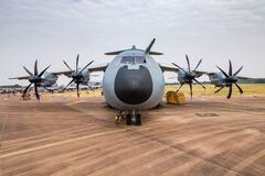 Free German Air Force Luftwaffe Airbus A400M Atlas 5410 Transport Plane Static Display At RIAT Royal International Air Tattoo 2018 Royalty Free Stock Images - 174144779