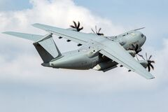 Free German Air Force Luftwaffe Airbus A400M Military Transport Plane Tanking Of From Wunstorf Airbase. Germany - June 9, 2018 Royalty Free Stock Photography - 202642017