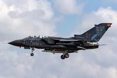 German Air Force Luftwaffe Panavia Tornado ECR Electric Combat / Reconnaissance aircraft. RAF Fairford, Gloucestershire, UK - July 9, 2014: German Air Force stock photography