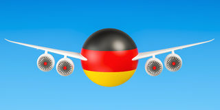 German airlines and flying& x27;s, flights to Germany concept. 3D ren Stock Images