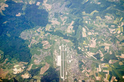 German Airport, Aerial View. Aerial view of an airport in Germany Royalty Free Stock Photos