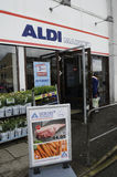 GERMAN  ALDI FOOD CHAIN OPENS ON MAUNDY THURSDAY Royalty Free Stock Image