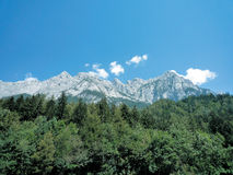 German Alps. Peaks of the German Alps in the summer stock image