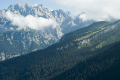 German Alps in Bavaria Royalty Free Stock Image