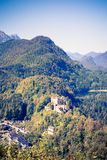 German Alps in Bavaria and the Hohenschwangau Castle royalty free stock photos