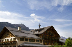 German Alps Lodge. Traditional built lodge in the Bavarian Alps, Germany Stock Images