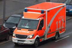 German ambulance car from above. An german ambulance car from above royalty free stock image
