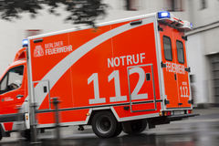 German ambulance car in action Royalty Free Stock Photo