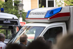 German ambulance service car Royalty Free Stock Images