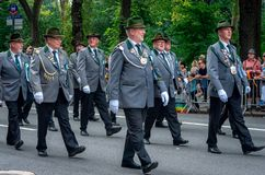 German-American Steuben Parade in New York City Stock Photo