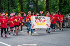 German-American Steuben Parade in New York City Royalty Free Stock Image