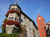 German architecture in Meersburg Royalty Free Stock Images