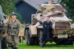 German armored car crewman. Stock Photo