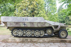 German armored half tracked vehicle Royalty Free Stock Photo