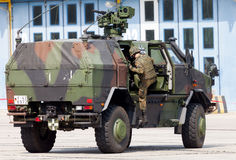 German armored military infantry mobility vehicle, ATF Dingo Stock Images
