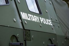 German armored military police door royalty free stock images