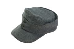 German Army field cap World War II period isolated on a white background Stock Image