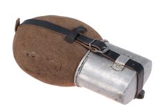 German army field flask (canteen) Royalty Free Stock Photo