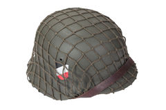 German Army helmet World War II period isolated on a white background Royalty Free Stock Photography