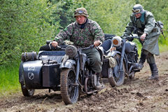 German army motorcyclists Royalty Free Stock Photography
