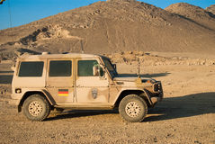 German Army Wolf. Vehicle in Afghanistan as part of the German NATO contribution. It is the military version of the Mercedes Benz G-Class stock photo