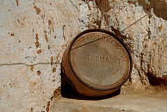 German Army  World War Two Fuel Drum, Matmata, Tunisia Royalty Free Stock Photos