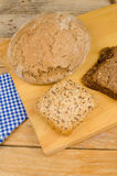 German assorted whole wheat bread Royalty Free Stock Image