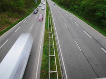 German Autobahn blur Royalty Free Stock Photography