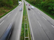German Autobahn blur Stock Images