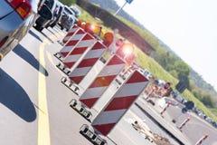 German autobahn construction site Stock Image