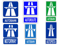 German Autobahn sign Royalty Free Stock Photos