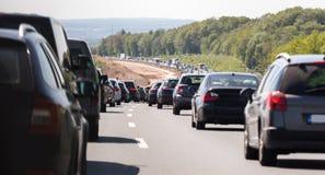 German autobahn traffic jam. A german autobahn traffic jam royalty free stock photography