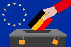 German ballot box for the European elections. A german ballot box for the European elections vector illustration