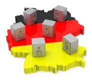 German bank vaults Stock Images