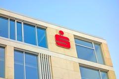 German banks - Sparkassen logo / sign on building facade Royalty Free Stock Image