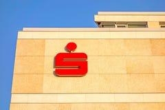 German banks - Sparkassen logo / sign on building facade Stock Image