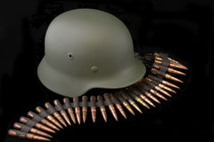 German battle helmet of WWII Stock Photo