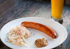 German, Bavarian, Bratwurst sausage Stock Photos