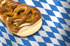 German Bavarian Oktoberfest pretzel Stock Images