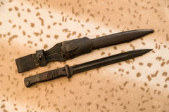 German bayonet with sheath. On the table stock photography