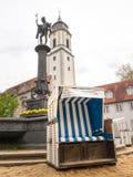 German beach chair Royalty Free Stock Photography