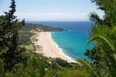 German beach next Zahara de los Atunes stock photography