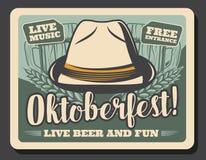 Free German Beer Festival, Oktoberfest And Bavarian Hat Stock Images - 159428394