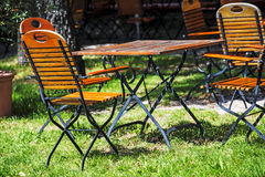 German beer garden Royalty Free Stock Photo