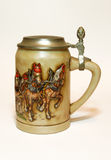 German Beer Jug. Boccale from Bavarian beer with cover in pewter Royalty Free Stock Photography