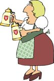 German Beer Maiden Stock Images