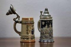 German beer mugs royalty free stock photos