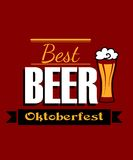 German best beer banner Royalty Free Stock Photography