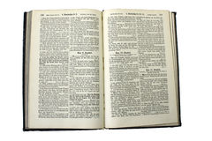 German Bible. An old family bible from the year 1923 in old high german Royalty Free Stock Photos