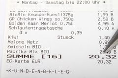 German Bill check Stock Photos